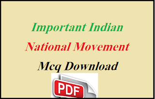 Modern Indian History Mcq With Answers