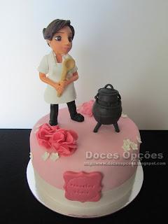 Bolo para o aniversário da cozinheira Sónia