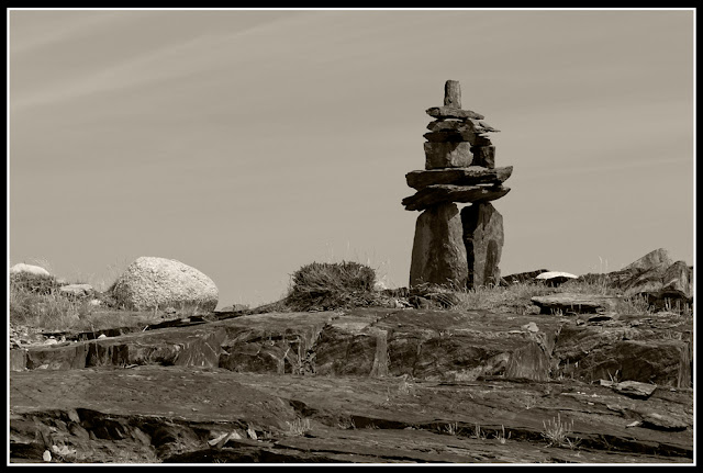 Nova Scotia; Gaff Point; Inukshuk