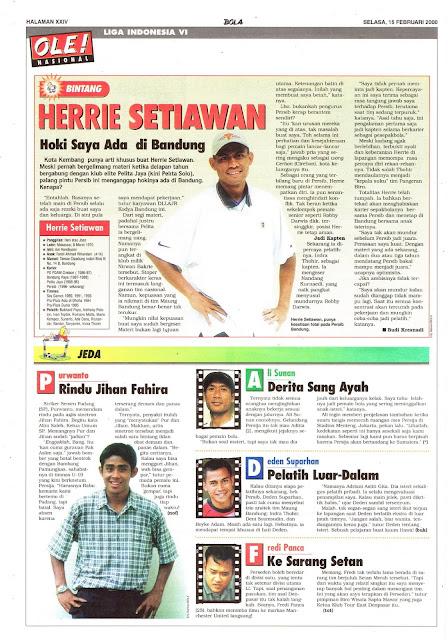 LIGA INDONESIA VI: BINTANG HERRIE SETIAWAN