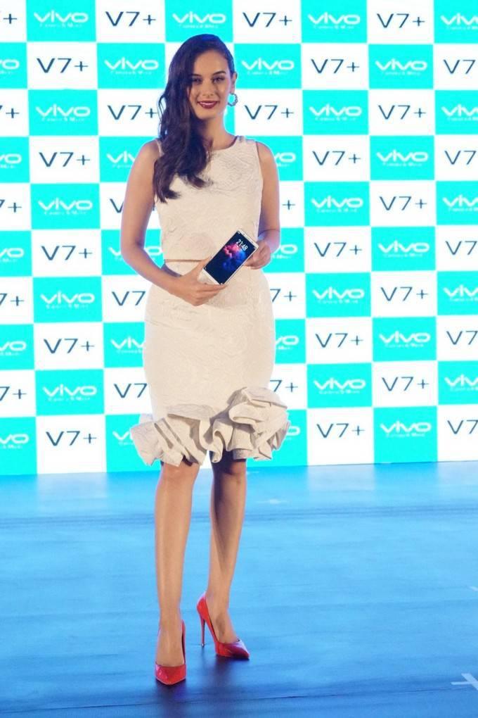 Evelyn Sharma Photoshoot At Vivo V7 Plus Launch Stills