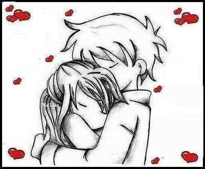 Gambar Kartun Romantis Hitam Putih Nusagates
