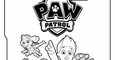 Hojas Para Colorear De Paw Patrol Para Imprimir Gratis