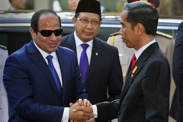 Presiden Jokowi saat Menerima Kunjungan Presiden Presiden Republik Arab Mesir Abdel Fattah Al Sisi. (5/9/2016)