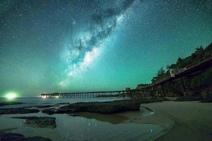 Looking Glass Falls Desktop Wallpaper Milky Way Catherine Hills Bay Australia Entertainment Enter