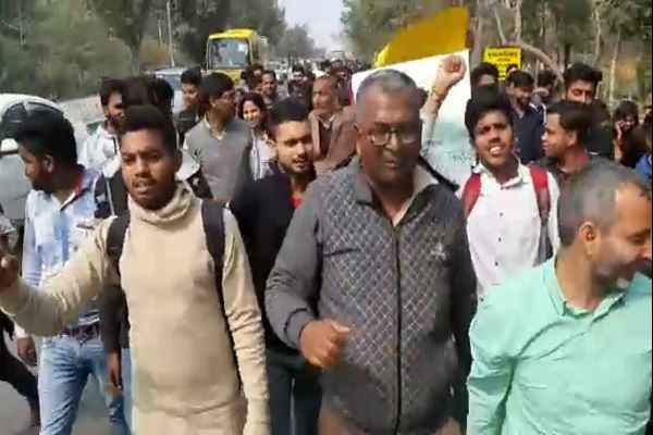 faridabad-imt-college-ilr-college-paidal-march-against-pakistan-pulwama-attack