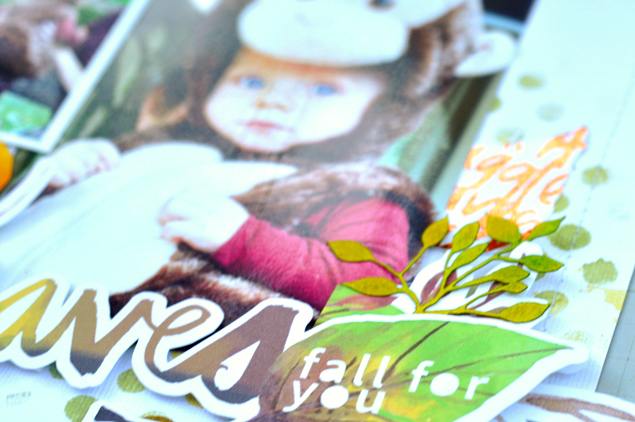 Lorrie's Story: Fall Layout featuring Thermoweb Deco Foil