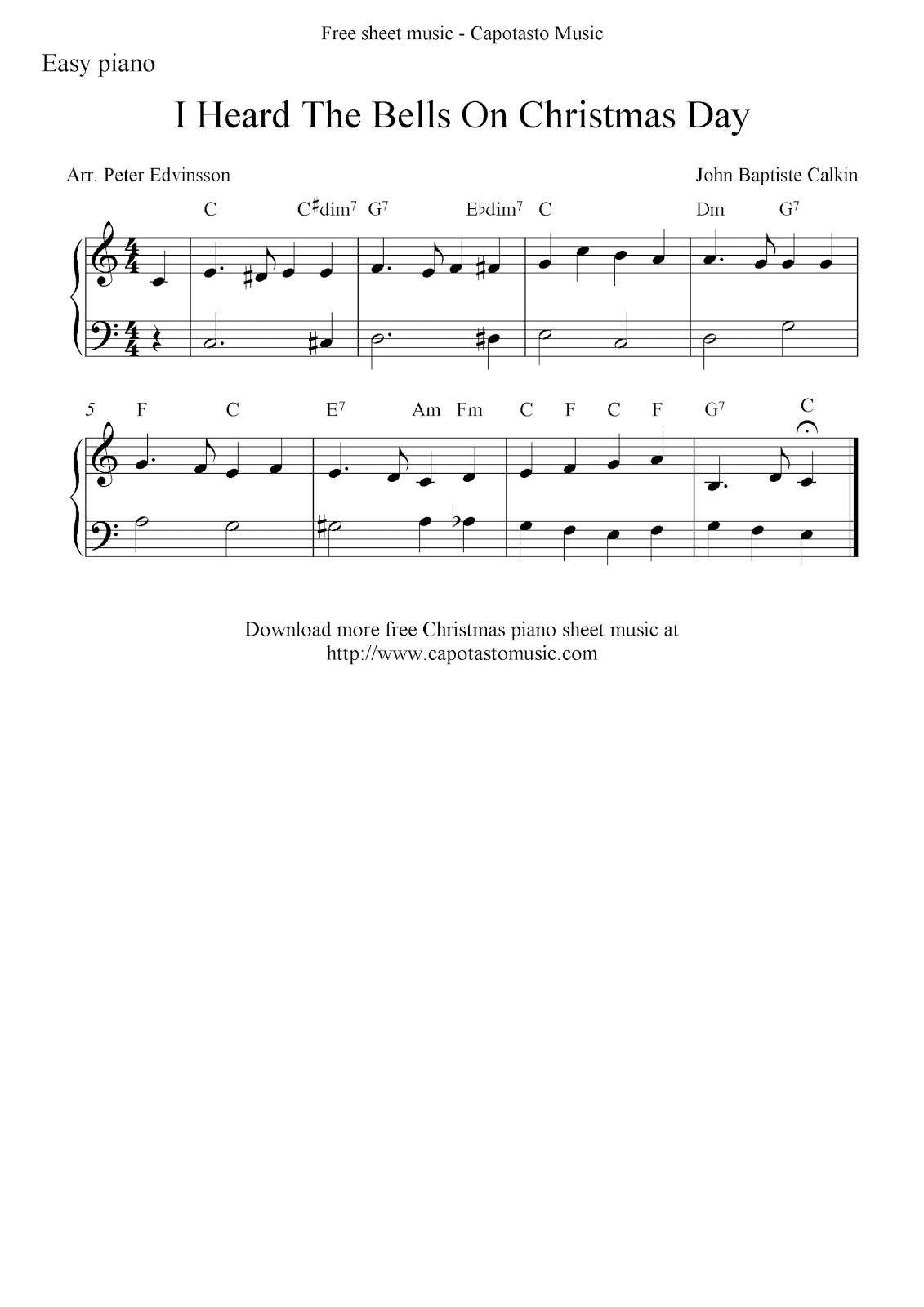 picture regarding Carol of the Bells Free Printable Sheet Music called September 2011