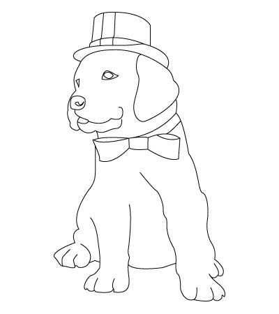 best coloring page dog: September 2012
