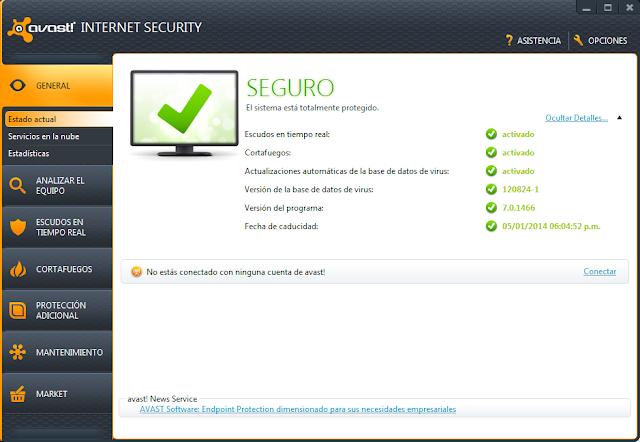 descargar avast free antivirus 7.0.1426 + licencia 2038 gratis