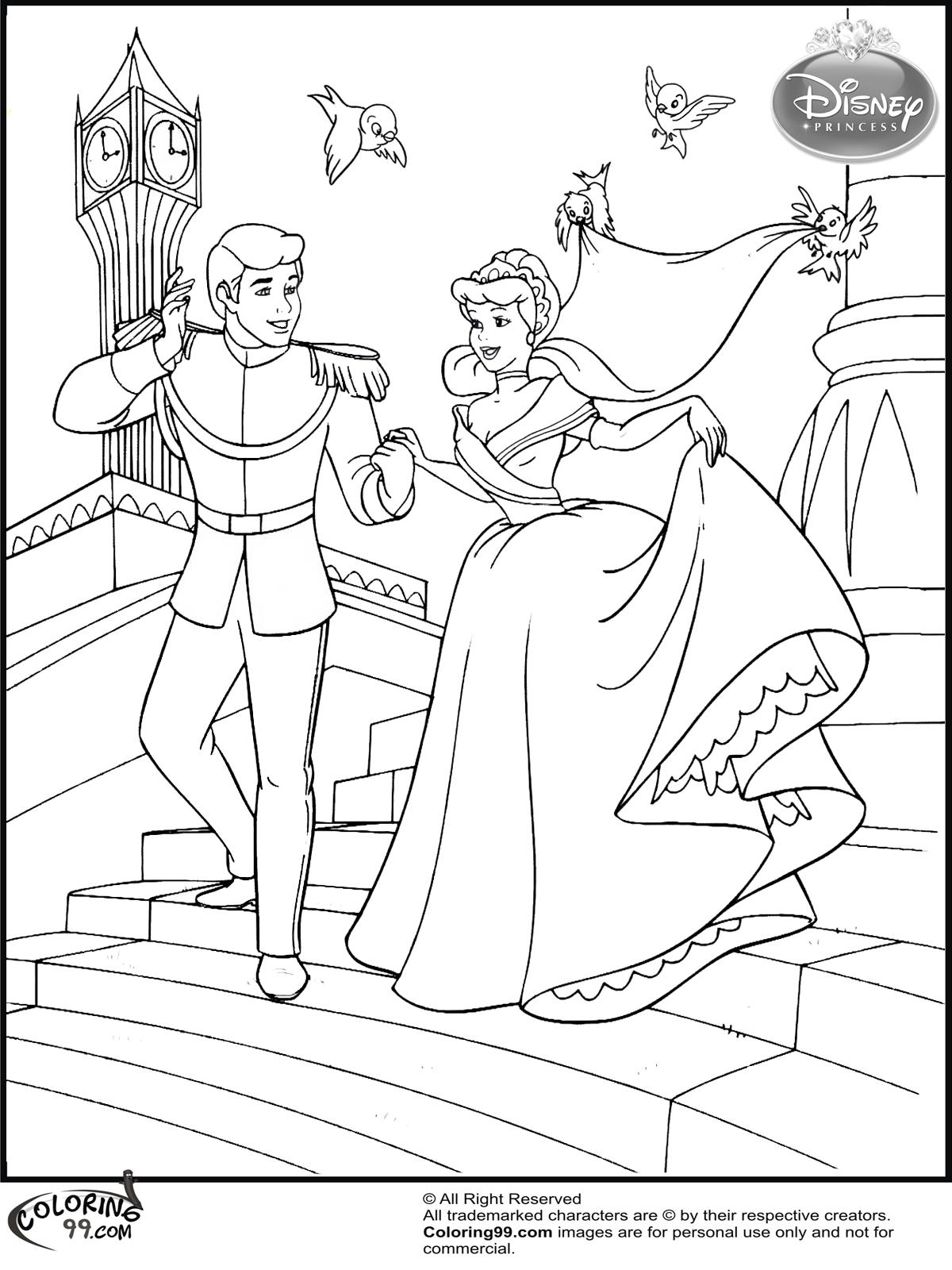 Fans Request - Cinderella Wedding Coloring Pages  Team colors