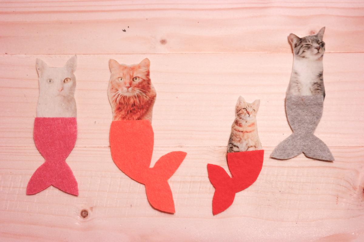 Meerjungfrau-Katze selber machen 4