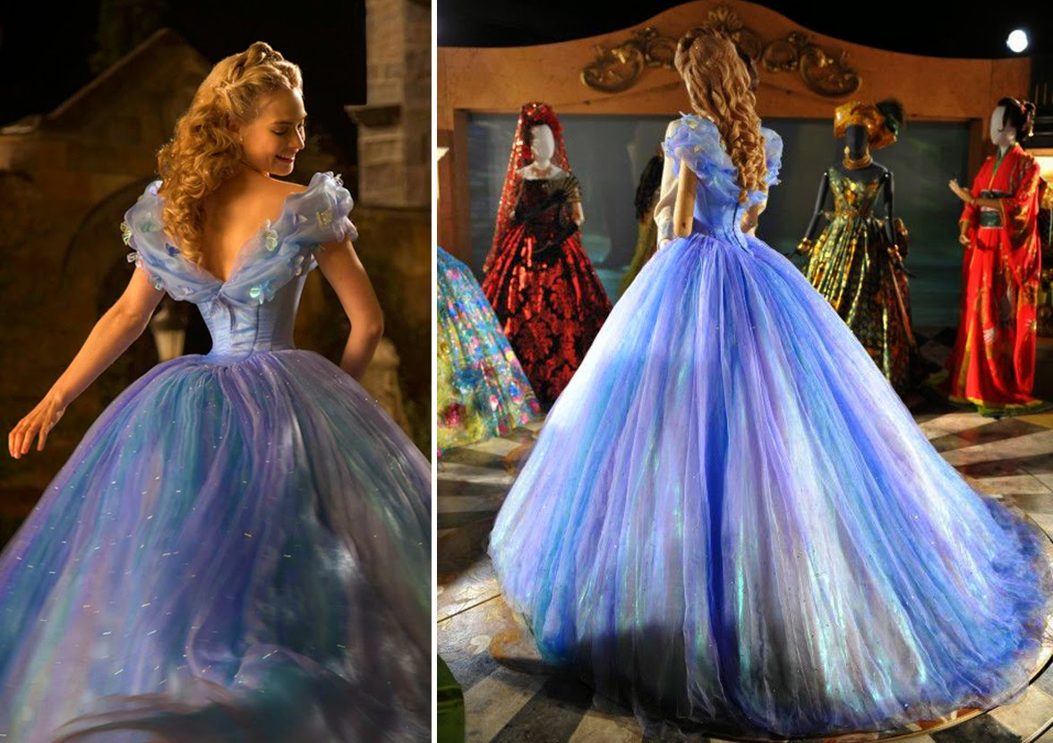 Cinderela Disney (Lilly James) vestido baile