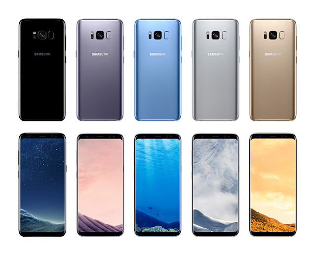 colour options in Samsung Galaxy S8+
