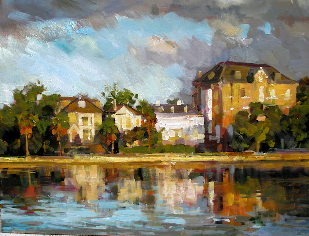 """Rick Reinert - """"studies In Sunlight And Rain"""" """" Baker House Colonial Lake"""" Charleston Sc"""