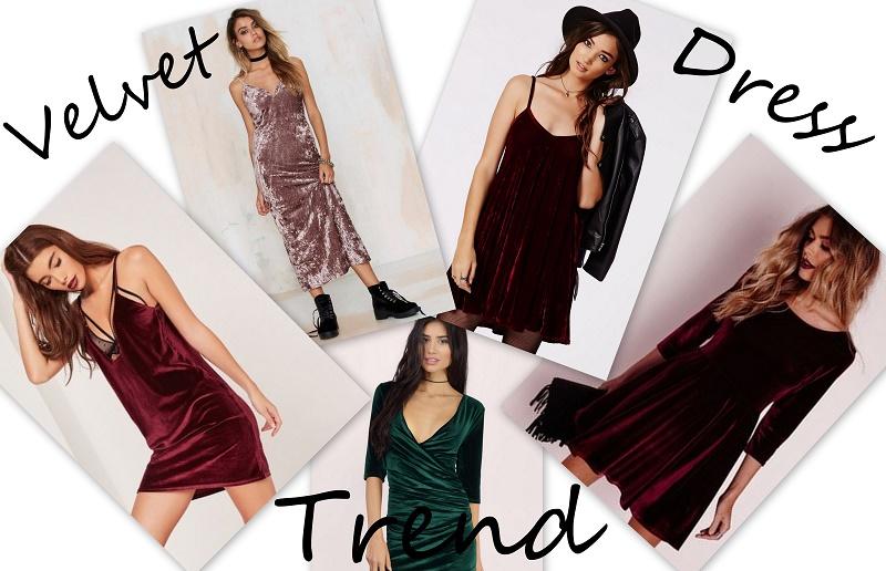 velvet dress trend