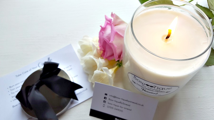 Bow-tique By Sinead, Luxury Organic Scented Candles, Review, The Style Guide Blog, Local Focus, NI blog, ROI blog