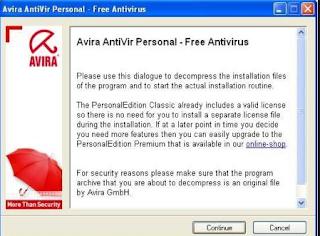 Cara instal Anivirus Avira