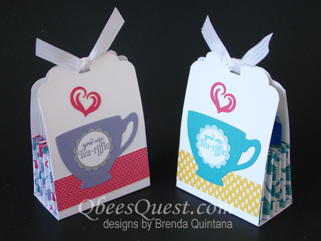 Qbee's Quest: Accordion Tea Bag Holder