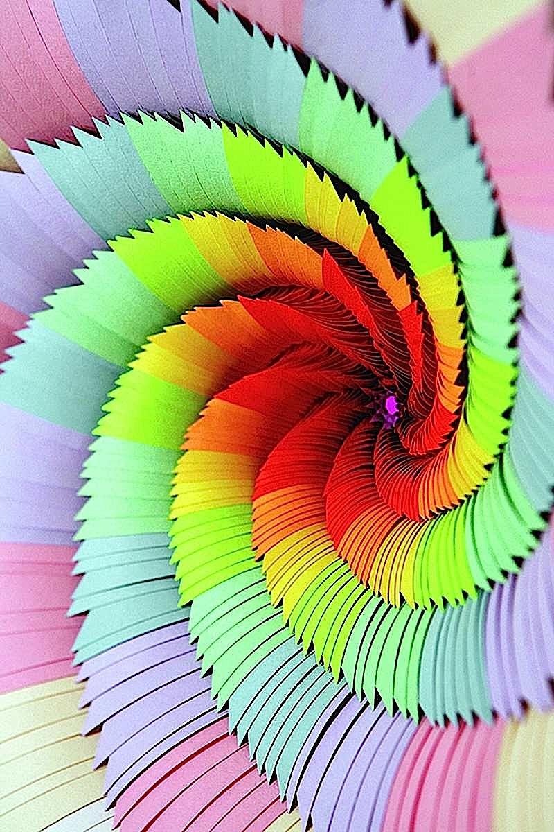 Jen Stark paper sculpture, large photograph