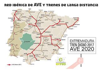 Corredor del sudoeste tren Extremadura