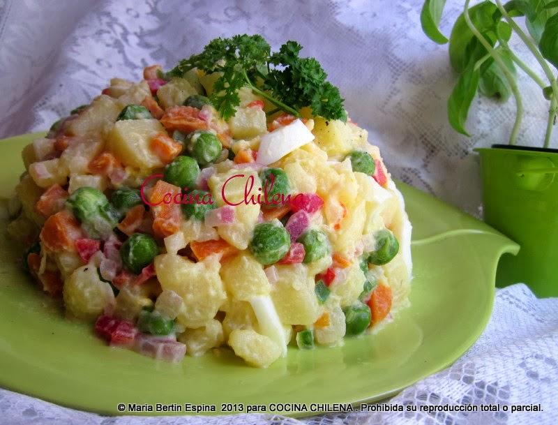 Cocina chilena ensalada rusa for Cocinar ensaladilla rusa