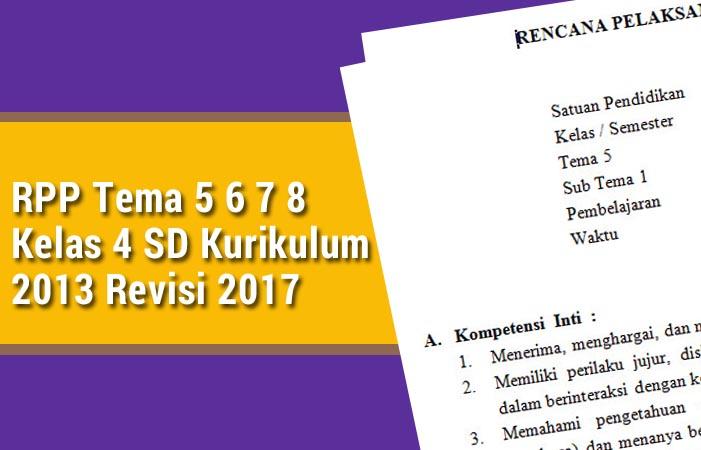 RPP Tema 5 6 7 8 Kelas 4 SD Revisi 2017