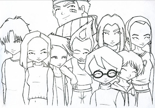 code lyoko coloring pages - photo#13