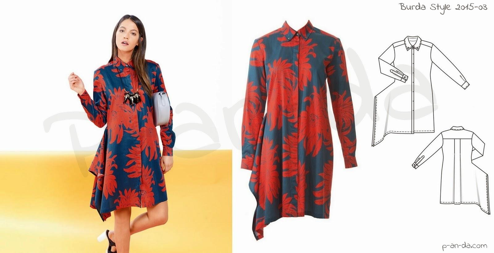 molde de vestido de Burda