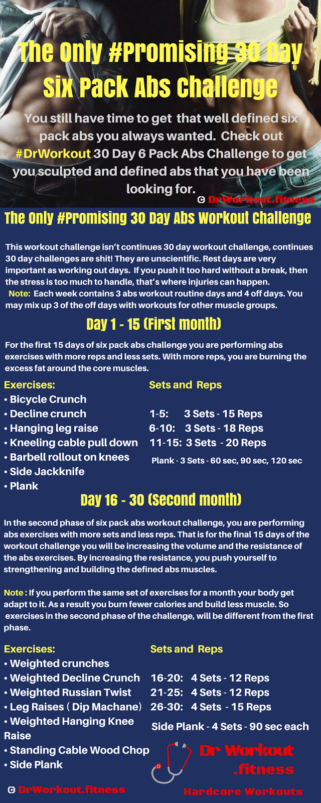 30 Day Six Pack Abs Challenge