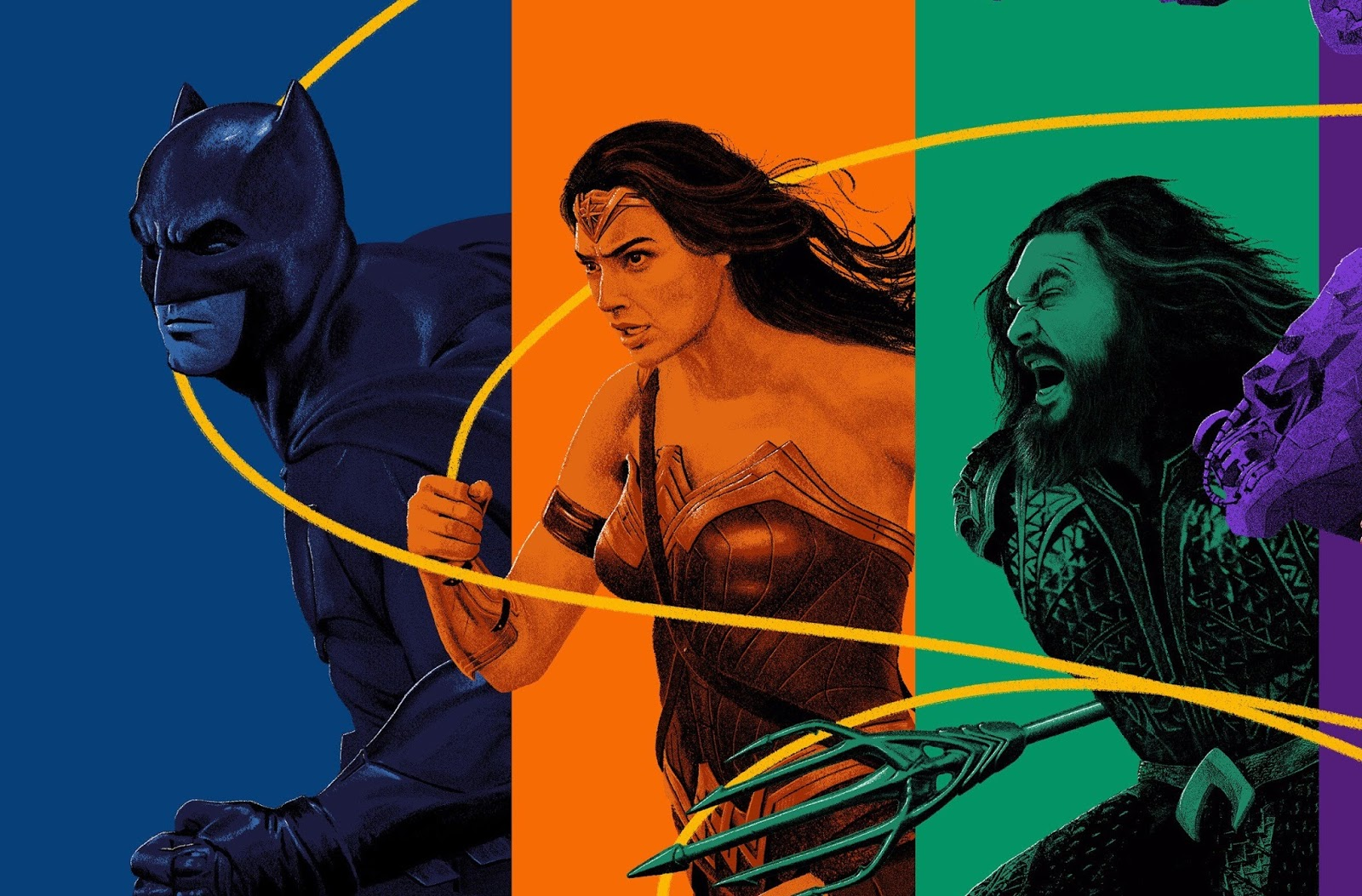 Justice League : Team Come Together In Visual.