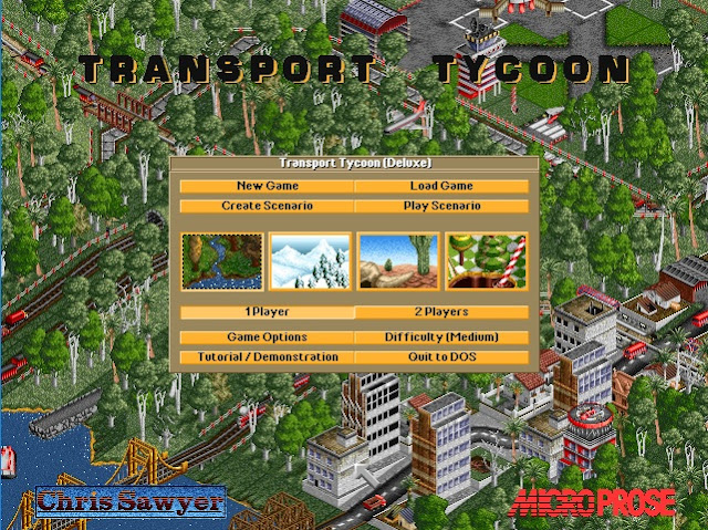 Screenshot from Transport Tycoon Deluxe