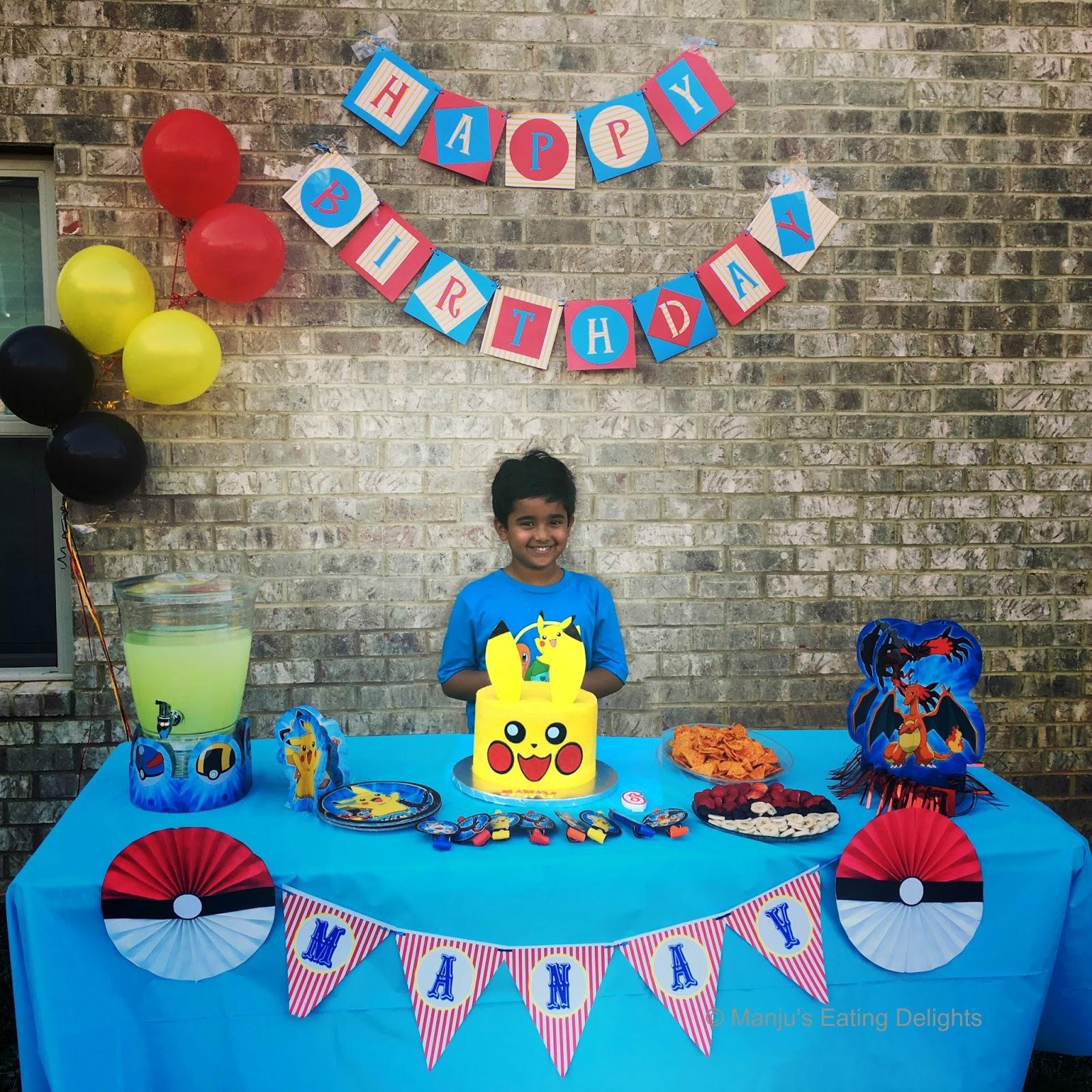 Manju s Eating Delights Pokémon themed birthday