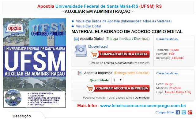 apostila Concurso UFMS Auxiliar em Administração