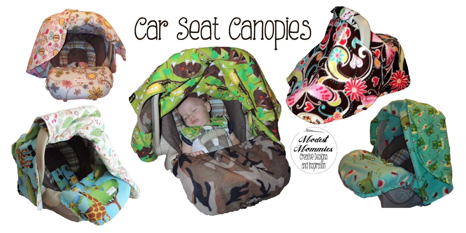 Modest Mommies Car Seat Canopies