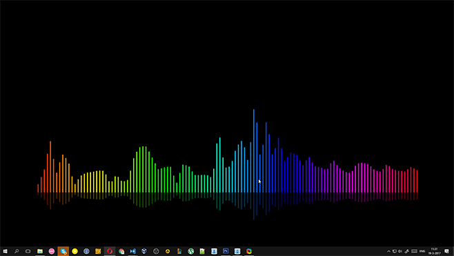 Rainbow Visualizer Lines Wallpaper Engine