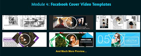 Facebook Cover Video Promotion Templates