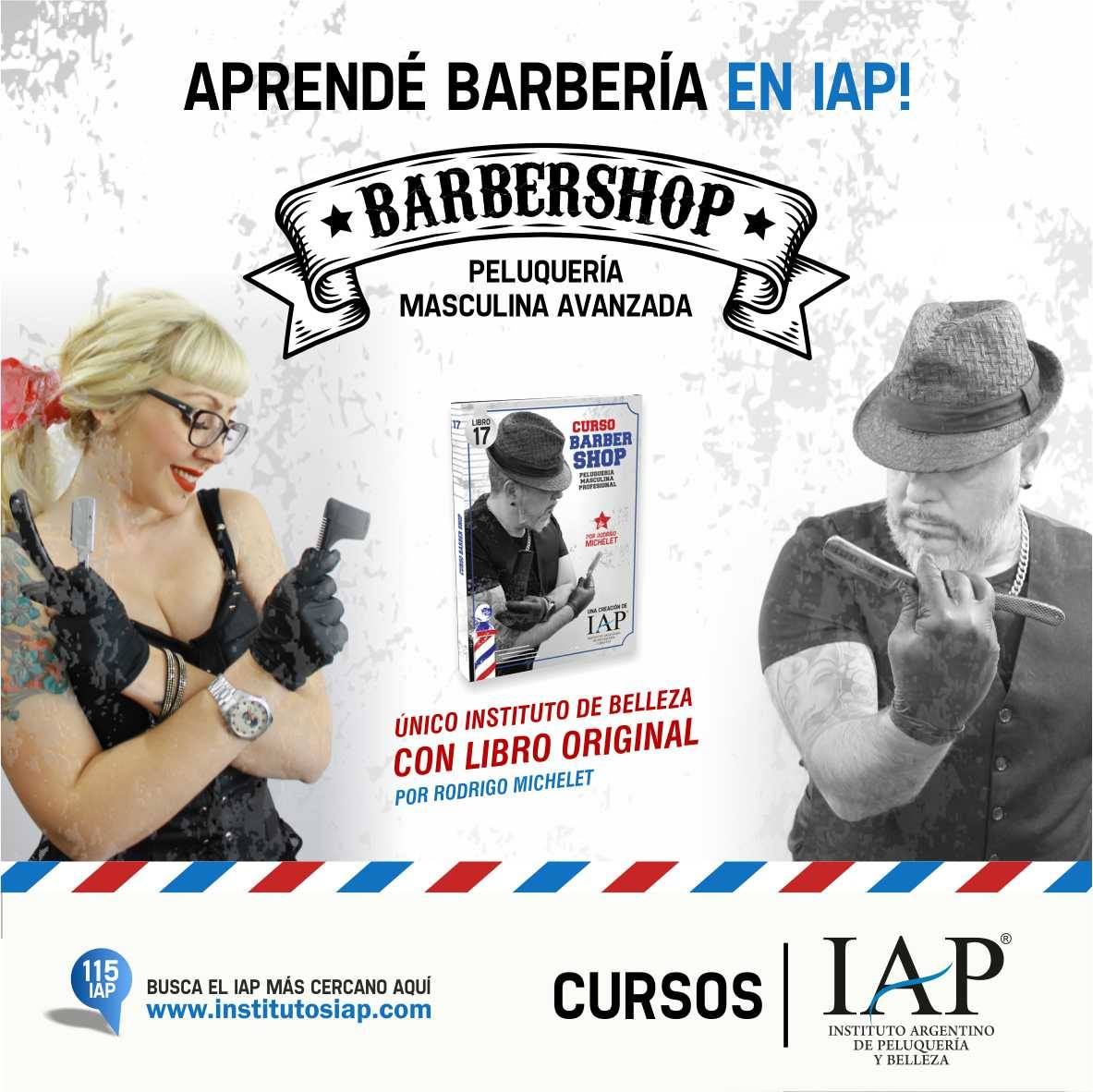 curso barberia IAP en mas de 117 institutos o a distancia.