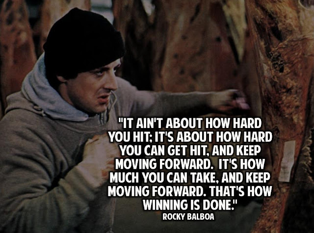 Rocky Balboa Motivational Business Quotes Inspirational Lean Startup Entrepreneur Quote Business is War Sylvester Stallone Inspiring
