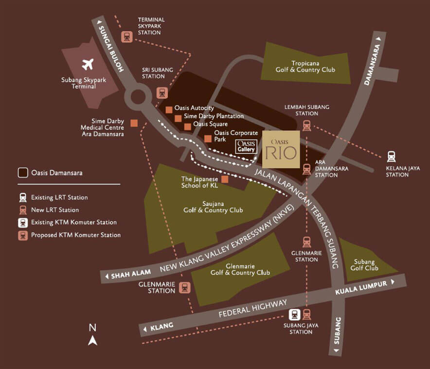 OASIS RIO Residences Serviced Apartment Map Location