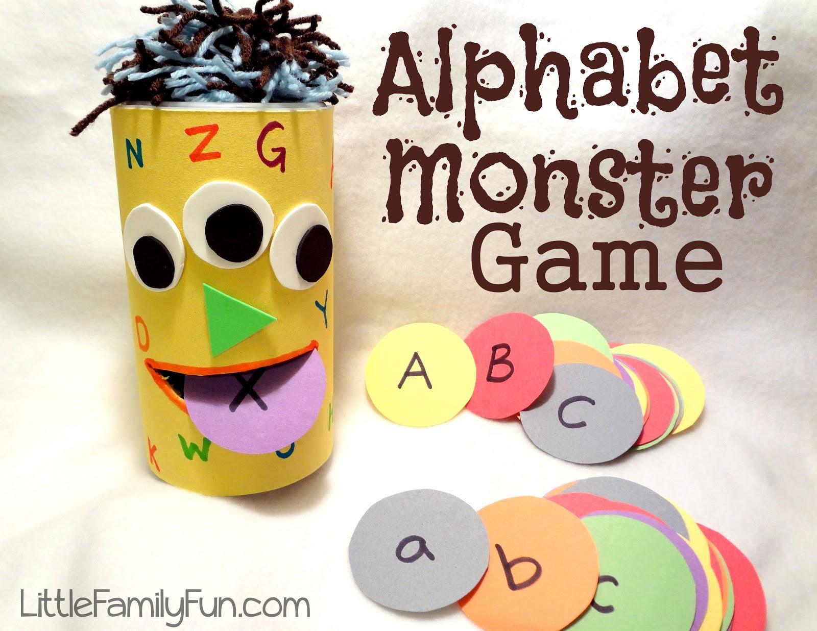 Little Family Fun Alphabet Monster Game