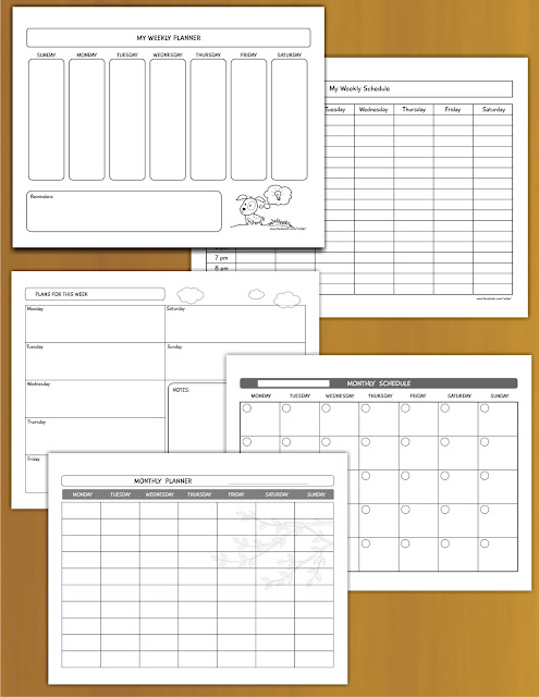 Free weekly monthly calendar templates