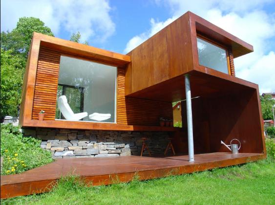10 Contoh Desain Rumah Minimalis Menggunakan Bahan Semipermanen