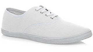 Cheap white pumps for 80s wham costume