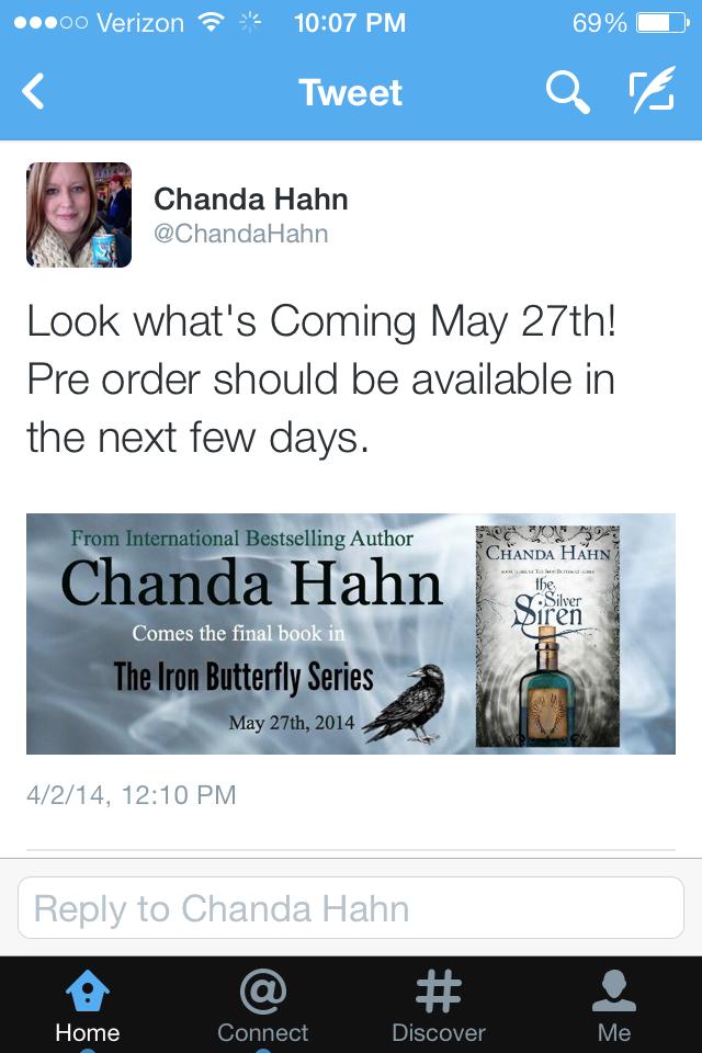 Book-et List: Chanda Hahn- The Silver Siren