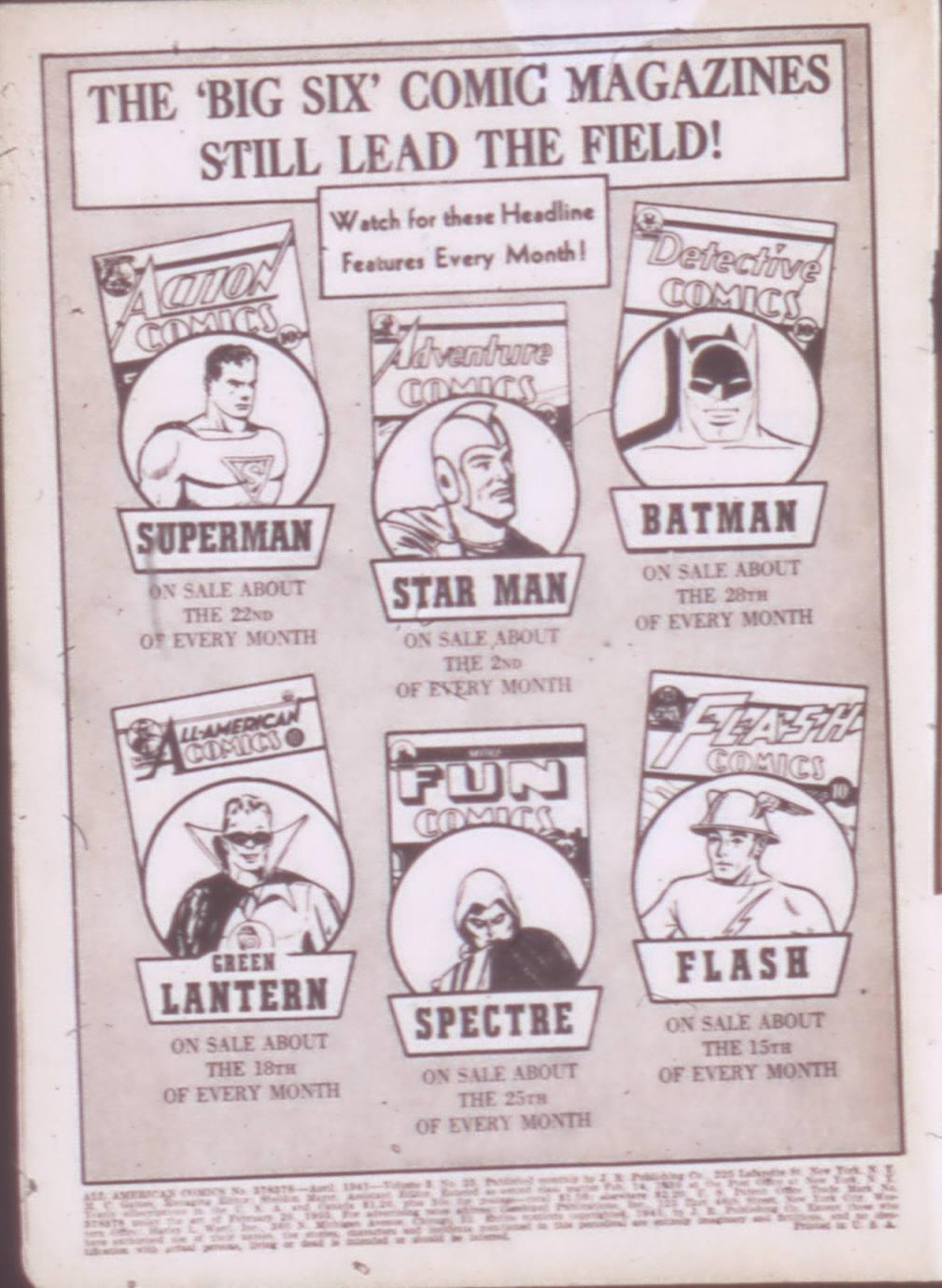 Read online All-American Comics (1939) comic -  Issue #25 - 2