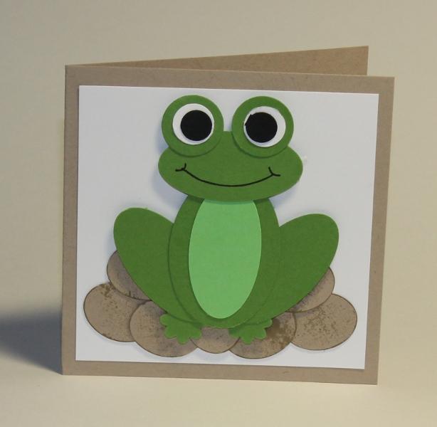 stefanie 39 s scrapbookwelt eine karte mit frosch aus stanzteilen. Black Bedroom Furniture Sets. Home Design Ideas