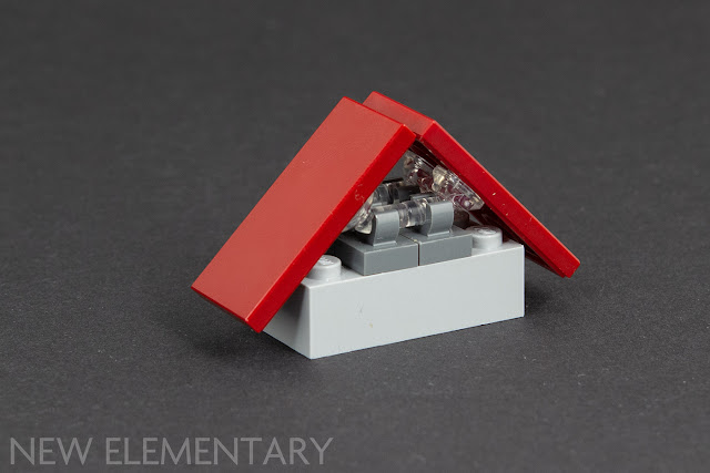 10 1x1 Clear Red Translucent Extra Small Slope Bricks ~ New Lego Parts ~