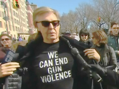 Paul McCartney 'WE CAN END GUN VIOLENCE' t-shirt. PYGear.com