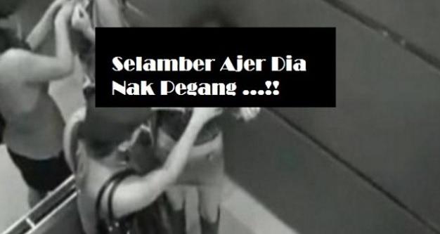 Lelaki Tidak Dikenali Lakukan Perbuatan Tak Senonoh Terhadap Wanita Dalam Lift !!